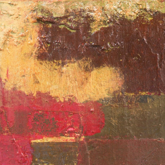 Textural Abstract Oil Painting - Image 5 of 7