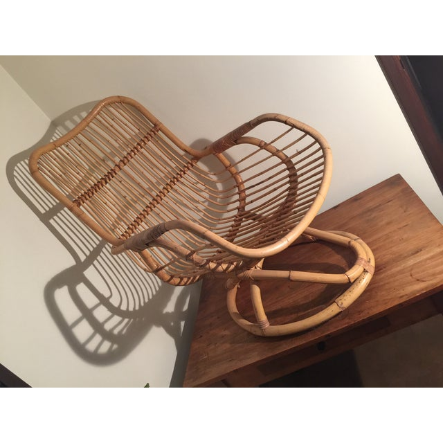 Mid-Century Rattan Chair - Image 4 of 11