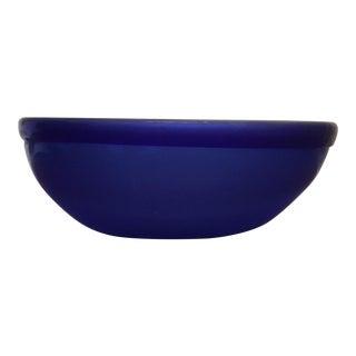 Vintage Transparent Blue Bowl