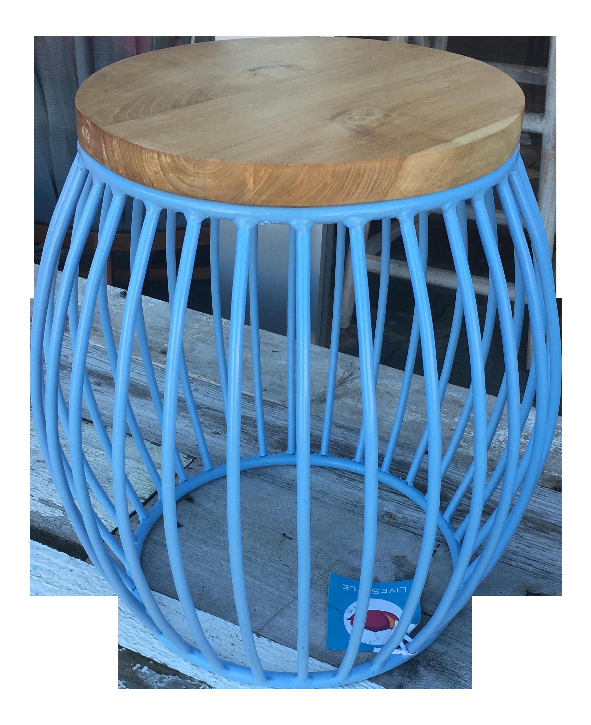 Vintage Amp Used Blue Stools Chairish