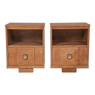 Maple Wood Nightstands - a Pair