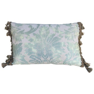 Sea Foam Green & Cream Fortuny Pillow