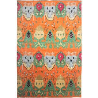 Hand Knotted Ikat Rug - 10′3″ × 14′3″
