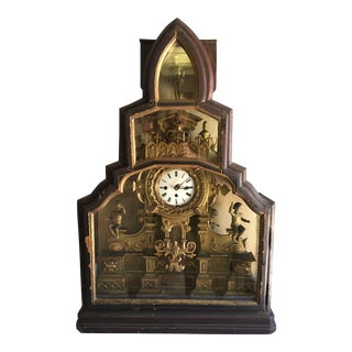 Antique Carved Wood Clock