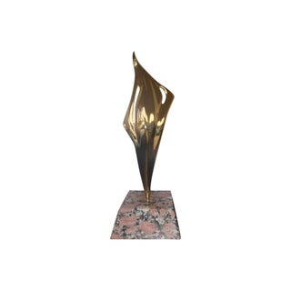 Modernist Brass Sculpture by Ray Tanner