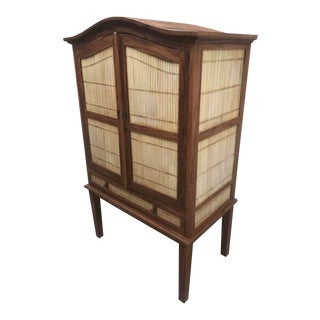 Bamboo & Teak Cabinet