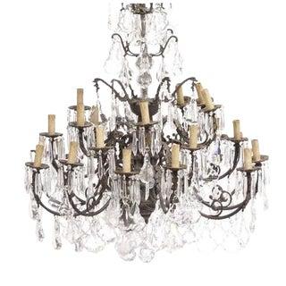 Louis XV Bronze & Crystal 24 Light Chandelier