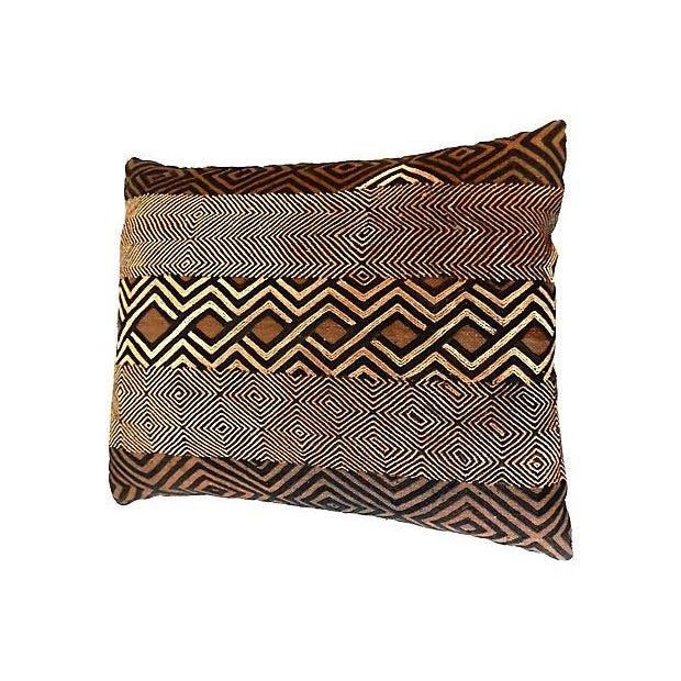 African Kuba Raffia Pillow - Image 2 of 7