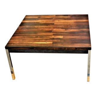 Solid Brazilian Rosewood Staved & Chrome Danish Modern Table