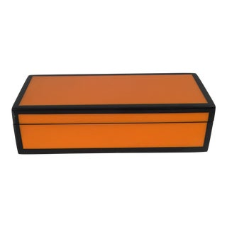 Black & Orange Lacquered Jewelry Box