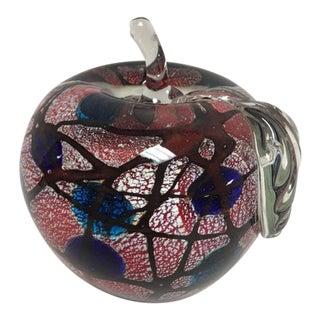 Murano Art Glass Apple Paperweight