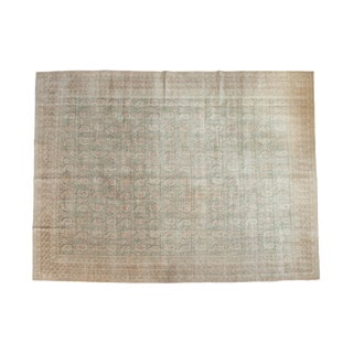 Vintage Distressed Oushak Carpet - 9' x 11'11""