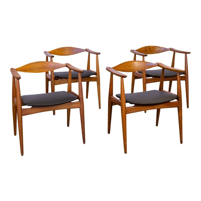 Set of Four Wegner CH-35 Armchairs - Image 1 of 11