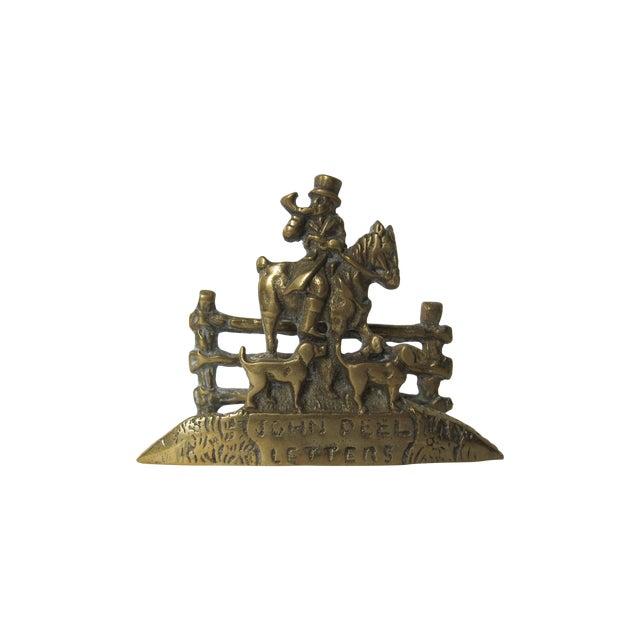 Image of Brass Equestrian Letter Holder
