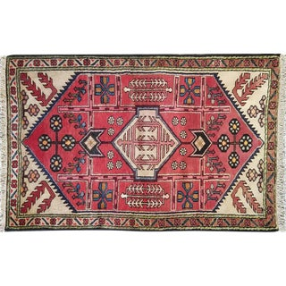"Traditional Vintage Persian Rug - 2'9"" X 4'3"""