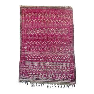 "Vintage Beni M'Guild Moroccan Rug, 5'8"" x 8'1"" feet"