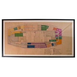 Pan Am Building Blueprint For Reader's Digest 1974