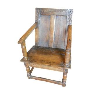 Antique English Tudor/Stuart Oak Chair