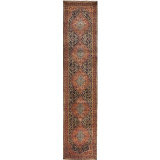 """Hand-Knotted Artisan Indian Runner- 2'10""""x 12'2"""""""