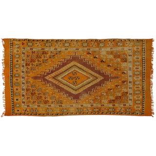 Vintage Berber Orange Moroccan Rug with Modern Style, 5'7x9'10
