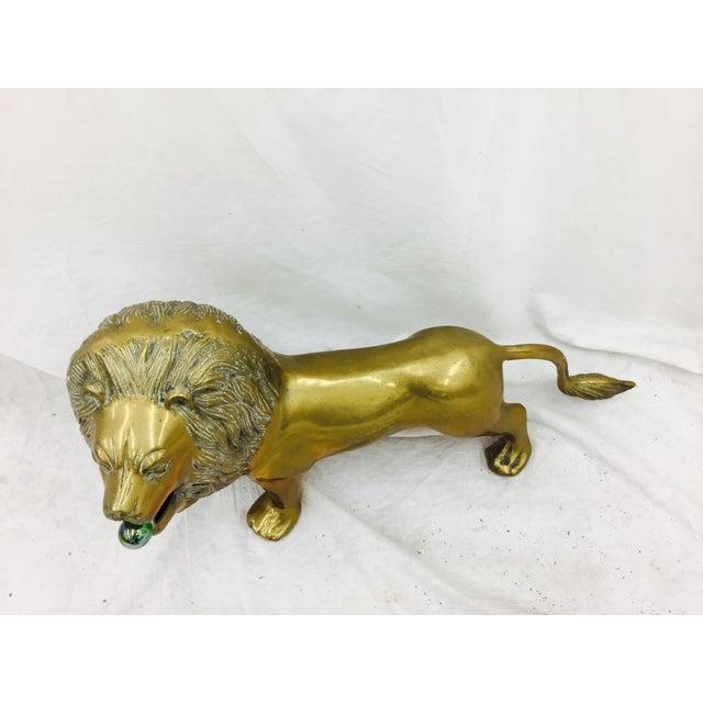 Vintage Brass Lion Sculpture - Image 6 of 10
