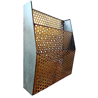 Perforated Metal Document Bin