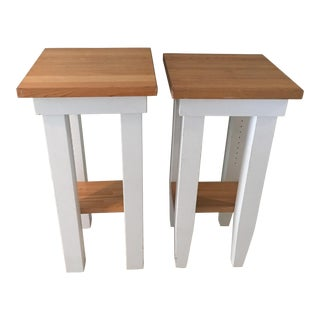 Williams Sonoma Butcher Block Stands - a Pair