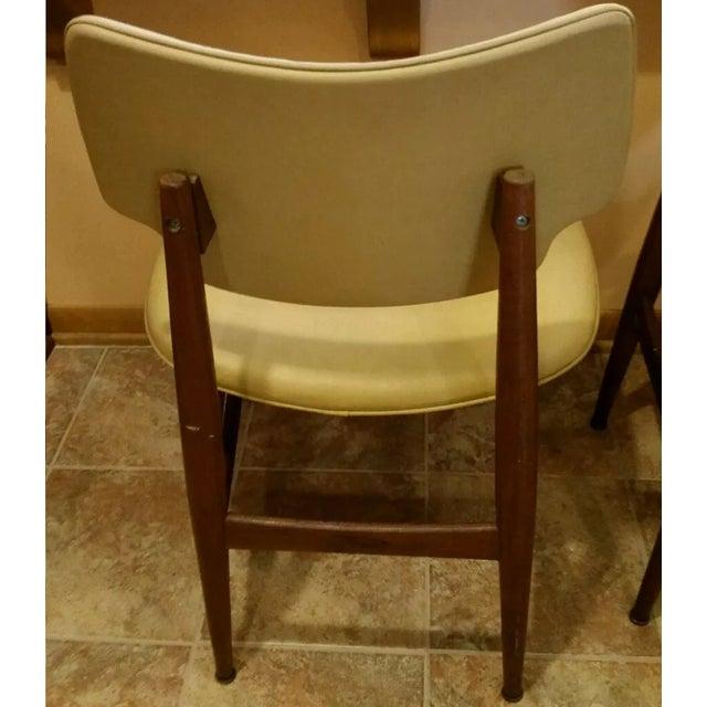 Thonet Mid-Century Yellow Vinyl Chairs - Set of 3 - Image 11 of 11