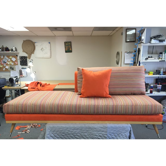Custom Mid-Century Modern Sofa Lounge - Image 4 of 10