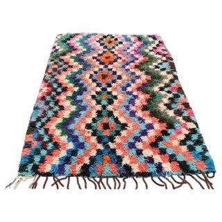 Vintage Moroccan Rug - 4′3″ × 7′10″