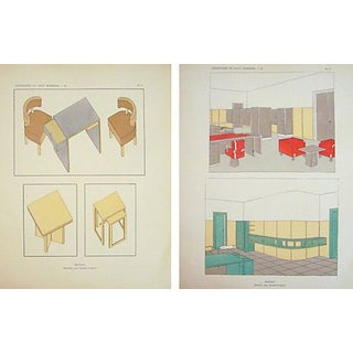 Paris Art Deco Furniture Sheets - A Pair