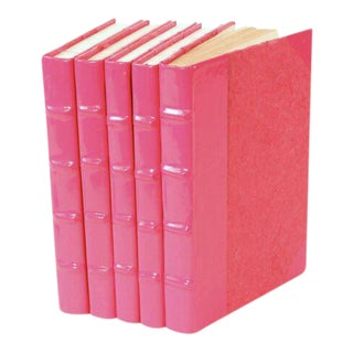 Patent Leather Pink Books - Set of 5