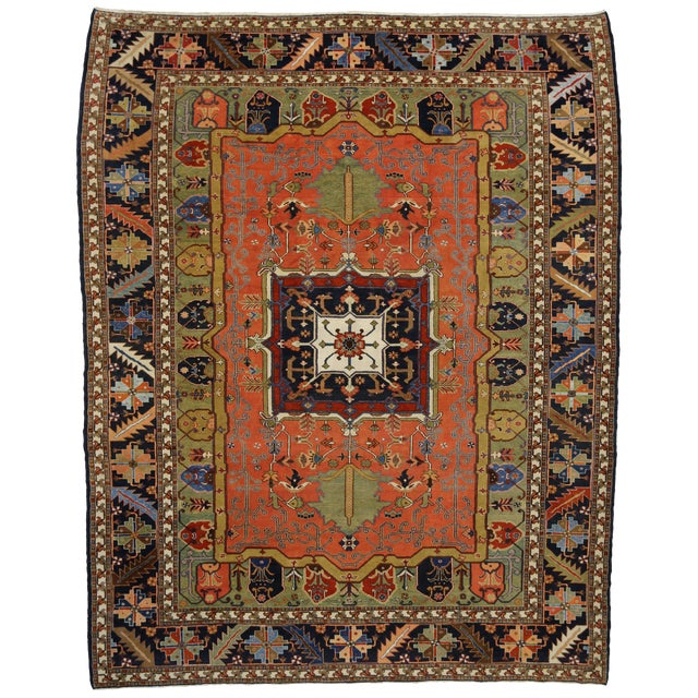 "Contemporary Persian Heriz Rug - 15' x 18'10"" - Image 1 of 9"