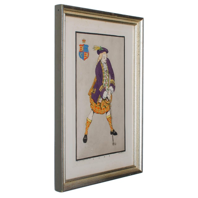 Early Golfing Costume Prints - A Pair - Image 4 of 5