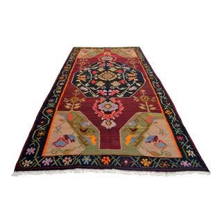 Turkish Hand-Woven Kilim Rug - 6′ × 11′10″