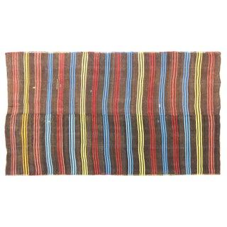 Vintage Turkish Flat-Weave Kilim Rug - 7' x 12'