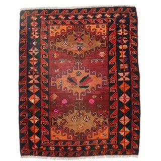 """Hand Knotted Wool Persian Shiraz Rug - 4'7"""" X 5'9"""""""