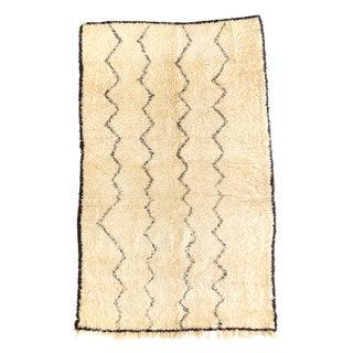 Vintage Moroccan Beni Ourain Rug - 5′3″ × 8′3″