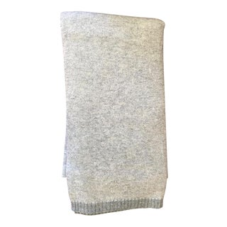Grey Cashmere Blend Throw