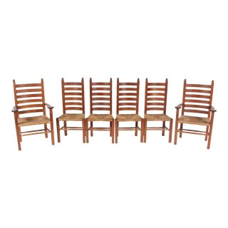 1930s Mission-Style Dining Chairs - Set of 6