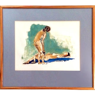 "Rose Segal Grant ""Two Models"" 1966 Oil Painting"