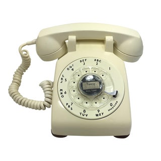 Ivory Color Rotary Dial Telephone