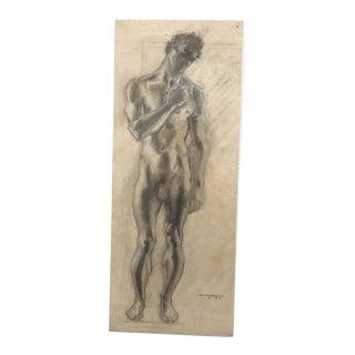 1937 William Littlefield Male Nude Study
