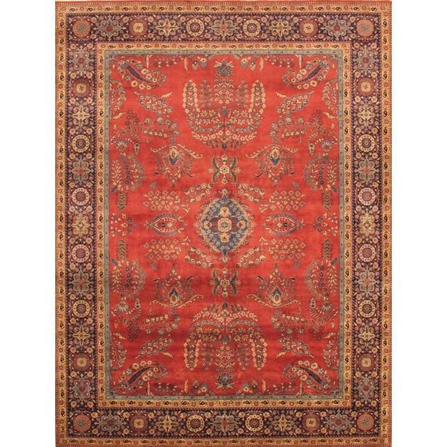 Image of Pasargad Sarouk Oriental Wool Area Rug - 8'x10'