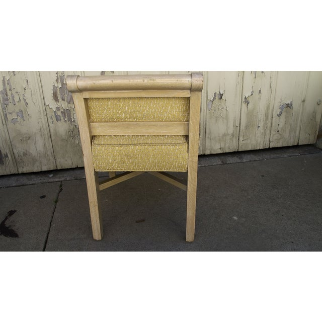 Vintage 1970s X-Form Yellow Vanity Chair - Image 3 of 6