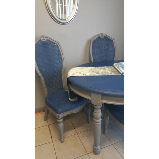Shabby Chic Blue & Gray Dining Set - Image 3 of 5
