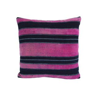 Vintage Striped Yoruba Nigerian Pillow