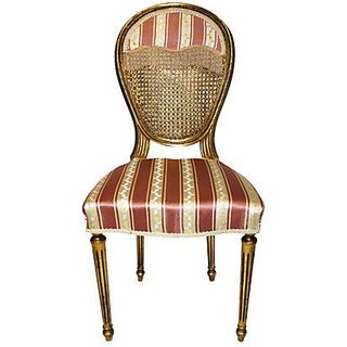 French Louis XVI-Style Gilt Chair