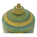 Image of Alvino Bagni Green Yellow Pottery Lamp