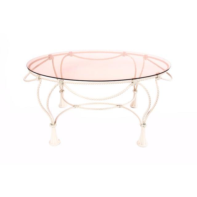 Italian Cream Metal Coffee Table - Image 1 of 3